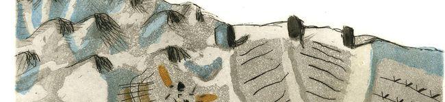 Terre, 2001. Acquaforte e acquatinta a colori, mm. 245x150
